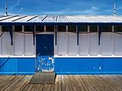 Toilet building on the pier in Llandudno, North Wales, UK