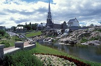 Canada, Chicoutimi, Quebec, The Pulpmill of Chicoutimi in the town of Chicoutimi along the Saguenay River.