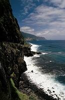 Veu de Noiva cliff, Madeira, Portugal.