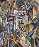 Cubism. Udaltsova, Nadezhda Andreyevna (1885-1961). Oil on canvas. Russian avant-garde. 1914. Russia. Thyssen-Bornemisza Collections. 72x60. Abstract ...