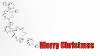 Stars and the words Merry Christmas, 3D illustration