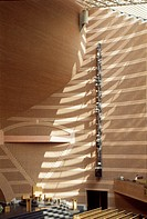 EVRY CATHEDRAL, EVRY, FRANCE, MARIO BOTTA, INTERIOR, INTERIOR WALL DETAIL.