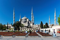 The Sultan Ahmed Mosque (Sultanahmet Camii) is an historic mosque in Istanbul. The mosque is popularly known as the Blue Mosque for the blue tiles ado...