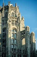 Buttresses of the Tribune Tower Top in Chicago