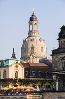Germany, Saxony, Dresden, View of Church of Our Lady