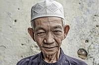 Portrait of a muslim man, Kuching, Malaysia.