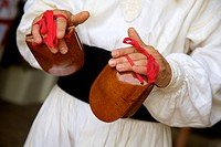 Castanets, Ibizan Folk Dance, Sant Miquel de Balansat, Ibiza, Balearic Islands, Spain, Europe