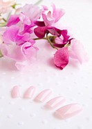 Nail chips and sweet pea