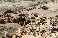 USA, New Mexico, Chaco Canyon National Historic Park, World Heritage Site, Pueblo Bonito.