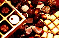 various types of valentine chocolate