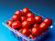 cherry tomato in packing case