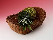 pineapple in basket