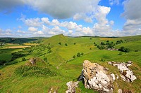 Chrome Hill from Parkhouse Hill, Derbyshire, Peak District National Park, England, UK,.