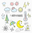 illustration icons related to weather