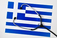 Griechische Fahne mit Stethoscope - 03/05/2010