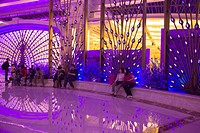 Interior of Galaxy hotel and casino complex, Taipa, Macau