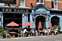 The Eagle pub in Shepherdess Walk, Shoreditch, London, UK.