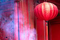 Chinese Lantern in the Temple of the Jade in Hanoi, Vietnam.