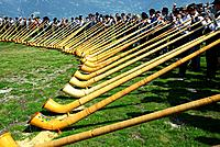 International Alphorn Festival, 27-29 July 2013 , Nendaz, canton Valais, canton Wallis, Switzerland.