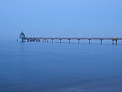 Pier in Zinnowitz in the evening, Island of Usedom, Mecklenburg Western Pomerania, Germany, Europe