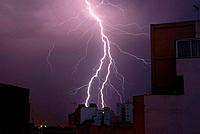 Lightning, Palma de Mallorca, Balearic Islands, Spain