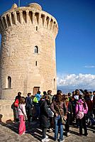 Torre del Homenaje Tower Keep, Bellver Castle, Palma de Mallorca, Balearic Islands, Spain