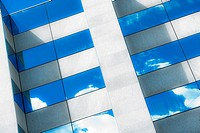 clouds relection in a glass facade of a high rise building - 18/09/2010