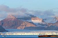Kongsvegan Glacier - near Ny-Alesund, Spitzbergen. Svalbard