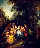 Spring', c1730. Lancret, Nicolas (1690-1743). Found in the collection of the State Hermitage, St. Petersburg.