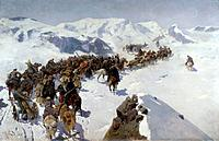 'Count Argutinsky Crossing the Caucasian Range', 1892. Found in the collection of the State Art Museum of the Dagestan Republic, Makhatchkala.