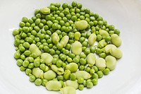 Peas and broad beans.