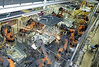 GERMANY : Car production at BMW in Dingolfing : robots putting body parts together / Automation  16.04.2007  . - Dingolfing, GERMANY, 16/04/2007