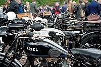 England, Warwickshire, Gaydon. The Vintage Motorcycle Club's Banbury Run which takes place at the Heritage Motor Centre at Gaydon.