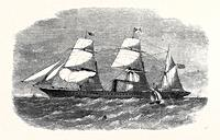 The Peninsular And Oriental Company's New Steamship Mooltan, August 3, 1861