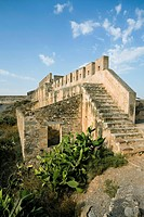 Ruins of the citadel of Sagunto, Spain, 2007. The first fortifications on the hill above the town of Sagunto, north of Valencia, were built in the 5th...