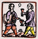 a wine seller and a customer