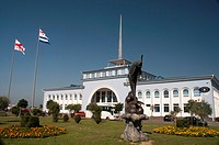 1960s Passenger Ferry Terminal building in the Black Sea port of Batumi, Georgia.