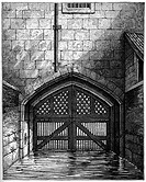 Traitors' Gate, Tower of London, 1801, (1893). The entrance to the Tower from the Thames, Traitors' Gate afforded many prisoners their last glimpse of...
