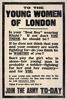 To the young women of London: Is your best boy wearing khaki? If not don't you think he should?