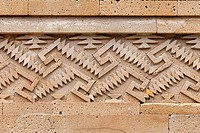 Detail of the mosaic fretwork: Mitla Archaeological Site at Oaxaca, Mexico.