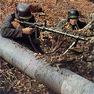 German infantry with machine gun.
