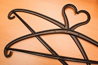 Coat hangers in shape of heart