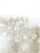 Elegant christmas background with baubles. EPS 8