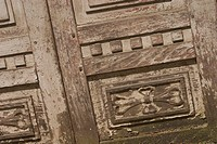 Close up of wooden door