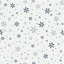 Seamless pattern with beautiful gray flowers
