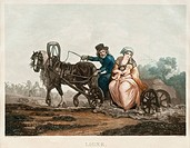 Sledge driving, 1830-1840s. From a private collection.