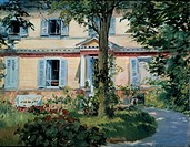 The House at Rueil, 1882. Found in the collection of the Staatliche Museen, Berlin.
