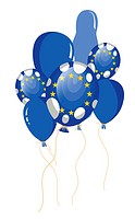 balloon flag of European Union