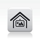 Vector illustration of single home icon