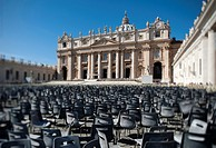 Saint Peter's Square and Saint Peter's Basilica. Vatican City. Rome. Italy.